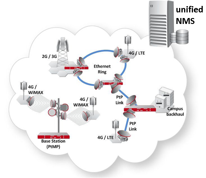 A simplified network architecture with unified management