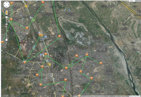 Network Visualization on maps